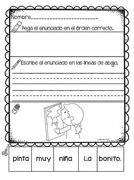 Spanish Sentence Scrambled (verbs)  / Oraciones revueltas ( verbos)