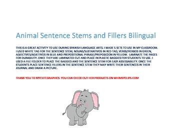 Spanish Sentence Stems