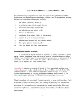 Spanish Sentence Word Order