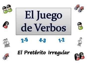 Spanish Sentence Writing Activity with  Irregular Preterit (ppt)