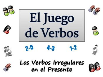 Spanish Sentence Writing Activity with  Irregular Verbs (Powerpoint)