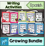 Spanish Sentence Writing Station Activities Growing Bundle