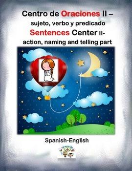 Spanish Sentences II: Parts / Oraciones II: Partes in a St