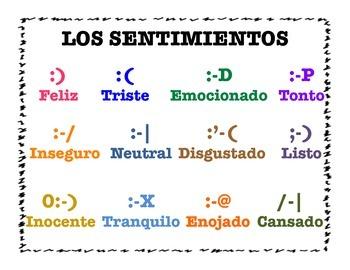 Spanish Sentimientos Text Symbols