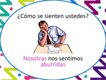 Spanish Sentirse & Feelings Powerpoint - all forms