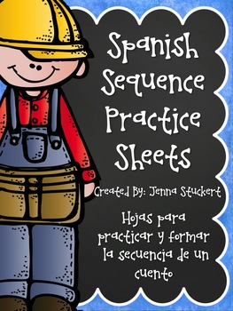 Spanish Sequence Practice Sheets