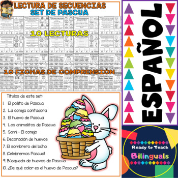 Spanish Sequence Reading - Easter - (10 Stories and 10 Comprehension Sheets)