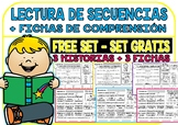 Spanish Sequence Reading - Free set - (3 Stories and 3 Comprehension Sheets)