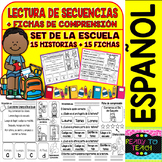 Spanish Sequence Reading - The School - (15 Stories and 15