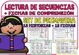 Spanish Sequence Reading - The Spring - (15 Stories and 15 Comprehension Sheets)