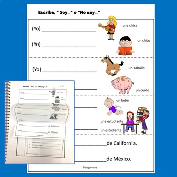 Spanish Ser and Saludos Interactive Notebook Activities and Student Handouts