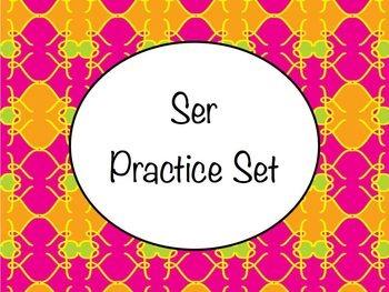 Spanish Ser & Basics of Conjugation BUNDLE- PowerPoint, Worksheets Pack, Keynote
