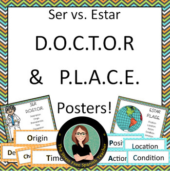 Spanish Ser / Estar DOCTOR and PLACE Acronyms POSTERS!