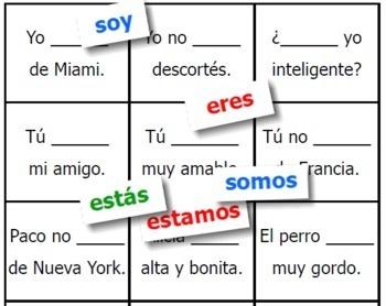 Spanish Ser & Estar Game