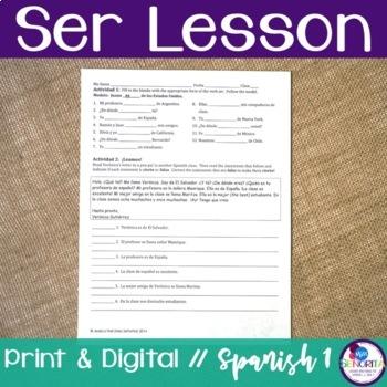 Spanish Ser Lesson