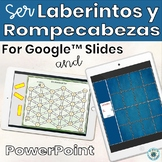 Spanish Ser Mazes and Square Puzzles PowerPoint or for Google™