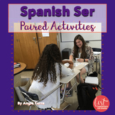 Spanish Ser Paired Listening and Speaking Activities