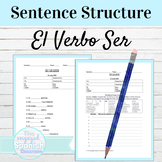 Spanish Ser Review and Sentence Structure Worksheets