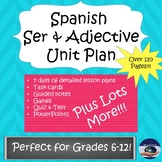 Spanish Ser and Adjective COMPLETE UNIT