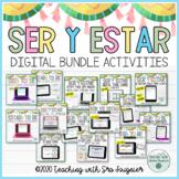 Spanish Ser and Estar Activity Bundle Editable - Distance