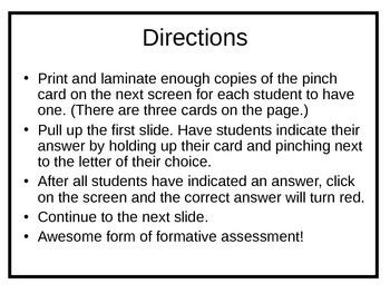Spanish Ser or Estar Pinch Card Activity