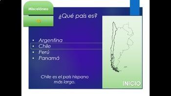 Español: Juego: Países, capitales y banderas (jeopardy style game)