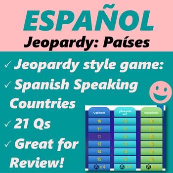 Español: Juego: Países, capitales y banderas (jeopardy sty
