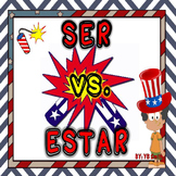 Spanish Ser vs. Estar Grammar Notes and Practice Powerpoint BUNDLE
