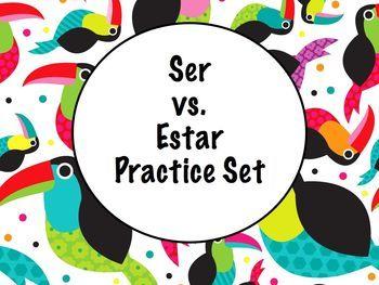Spanish Ser vs. Estar (a comparison) BUNDLE- Slideshows, Worksheet Pack