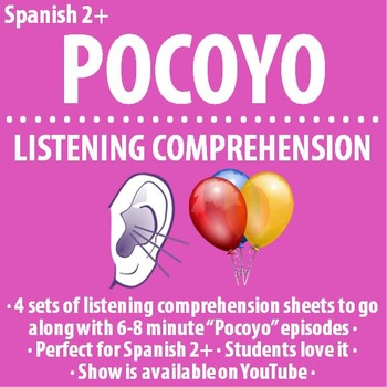 "Spanish - Set of FOUR ""Pocoyo"" 7 minute video guides"