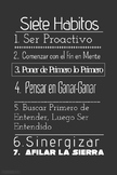 Spanish Seven Habits Leader In Me Poster