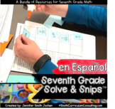 Spanish Seventh Grade Math Solve and Snips | Problem Solvi