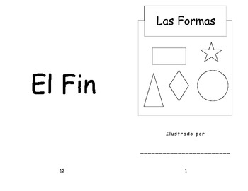 Spanish Shape Coloring Book