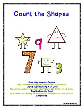 Spanish Shape Counting Activity Sheet