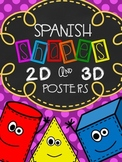 Spanish Shape Posters (2D and 3D)