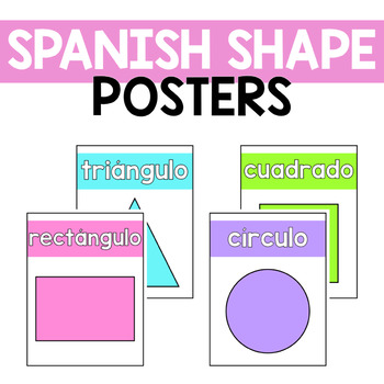 Spanish Shape Posters