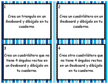 Spanish Shape Task Cards
