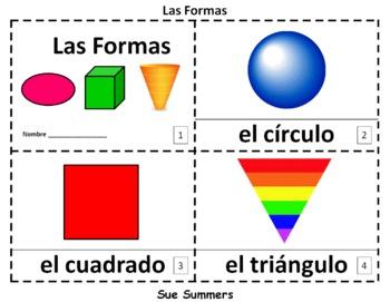 Spanish Shapes 2 Emergent Reader Booklets - Las Formas