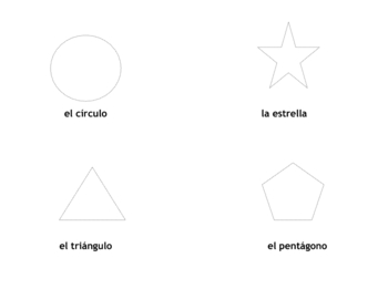 Spanish Shapes Book/Drawing Activity
