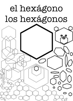 Spanish Shapes Coloring Pages