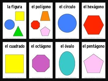 Spanish Shapes Flashcards