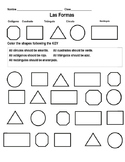 Spanish Shapes, Numbers 11-15, and Colors