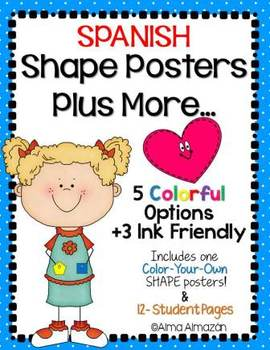 Spanish Shapes Posters Plus More