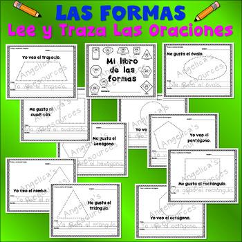 Spanish Shapes : Palabras de uso frecuente - Lee y traza oraciones - Las formas