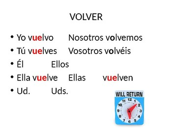 Spanish Shoe/Boot Verbs (o-ue)