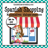 Spanish Clothing Shopping Dialogue Sequence Manipulatives