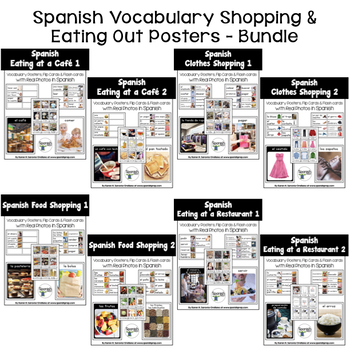 Spanish Shopping & Eating Out Posters Bundle