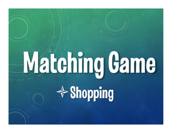 Spanish Shopping Matching Game