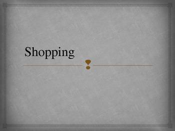 Spanish Shopping Powerpoint