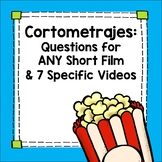 Spanish Short Films Movie Guide - Bellringers, Writing Activity or Sub plan
